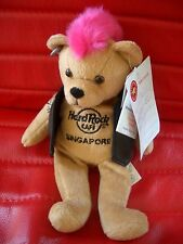 HRC HARD ROCK CAFE SINGAPORE punk Bear Mohawk 2009 ROSA HAIR Herrington