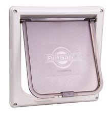 Cat Door Easy to Instal l2-Way Indoor Flap Dog Pet Lockable Safe 15 lbs White