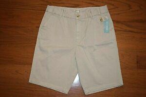 Coldwater Creek - Hidden Elastic Waist Bermuda Stone Khaki Shorts Women Size 14