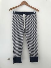 Ladies Pj Bottoms M&S 8 Navy Stripe Casual  <JJ9472
