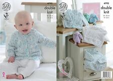 King Cole DK Knitting Pattern 4792:Baby  Sweaters & Cardigans