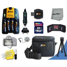 Ideal Kit 16GB Memory + Bts + Case + More for Nikon Coolpix L22 Digital Camera