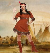 Adult Native Red Indian Woman Pocahontas Fancy Dress Costume & Headpiece U38 692