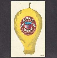 New Orleans LA 1870's Agent Banner Ham Cincinnati 1876 Expo Patriotic Trade Card