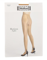 Wolford Horizon Tights 8512 Size Small - Beige/Black