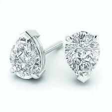 Screw Back (pierced) Excellent Cut SI2 Fine Diamond Earrings