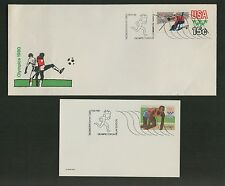 1980 WINTER OLYMPIC TORCH RELAY COVERS U596 / UX80 OLYMPIC STATIONERY ISSUES 50K