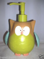 Jumping Beans Owl Bath/Kitchen Lotion/Soap Pump Dispenser 7x4x4 Resin NWT
