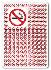 NO SMOKING, health and safety signs/sickers, warning, first aid, 50x50 (100)