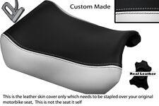 WHITE & BLACK CUSTOM FITS SUZUKI GSXR 1100 89-98 FRONT LEATHER SEAT COVER