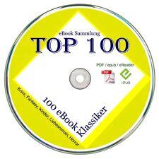 Top 100 Ebook Klassiker,ca. 90.000 Seiten im PDF & EPUB Format   ✔CD-Rom