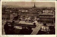 Wien Österreich ~1920 Panorama Stadt Karlskirche Kirche Wohnhäuser Häuser Straße