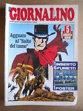 GIORNALINO n°45 1977 Capitan Erik Pnky + Poster Nazionale Italia  [G555]