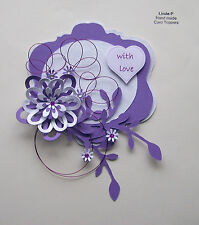 3D WIRED DESIGN CARD CRAFT TOPPER, EMBELLISHMENT  GEN 26-2 Lilac