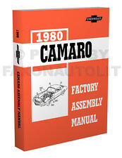 1980 Camaro Bound Factory Assembly Manual - 654 Pages Berlinetta Z28 RS Chevy