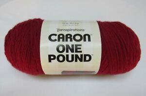 Caron One Pound Yarn  100% Acrylic In Claret