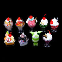 Dollhouse Mini Food Decor Cream Fruit Cup Ice cream cup Simulation Kid T JA