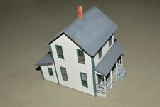 HO scale white two story house wood building structure #2