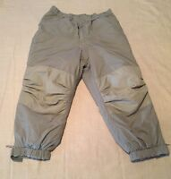 US MILITARY Primaloft Extreme Cold Weather Trousers Large Regular Green Gray