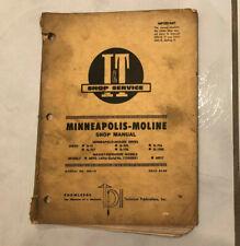 I & T Shop Service Manual #MM-18 Minneapolis Moline & Massey Ferguson G-VI MF95+
