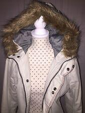 G-STAR RAW Damen Winter Jacke Mantel Größe S G-Star Raw mit abnehmbarem Fell