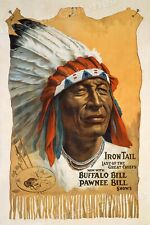 Buffalo Bill Old West Show Poster - Chief Iron Tail - 1912 - 24x36