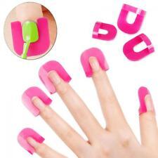 26pcs Manicure Finger Cover Nail Polish Mold Protector Stencil Tool Shield