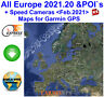 2021 EUROPE All Countries +Speed Cameras - City Maps nt for Garmin GPS Navigator