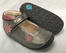 Infant Girls Clarks First Shoes Little Fizzi Metallic Leather UK 5 G