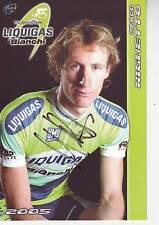 CYCLISME carte cycliste MARCO RIGHETTO équipe LIQUIGAS 2005 signée