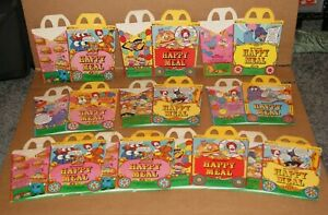 """RARE 1979 McDonald's """"CIRCUS WAGON"""" VINTAGE HAPPY MEAL BOXES lot of 10 seal lion"""