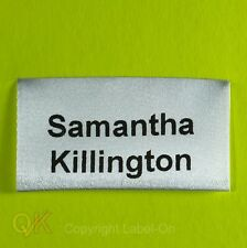 25 PRINTED WASH SAFE SOFT SATIN SEW IN SCHOOL NAME TAPES - TAGS -GARMENT LABELS
