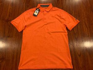 Under Armour Men's Golf Heatgear Polo Shirt Medium M Loose Fit Orange
