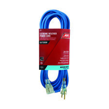 40 ft Extension Cord 3 Plug Lighted 12//3 Gauge Indoor Outdoor Blue 11-3504