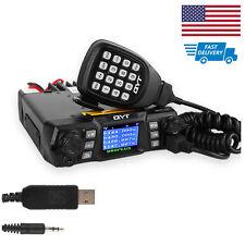 US! QYT KT-980 *Plus* VHF UHF 75W DTMF FM Mobile Car Radio Transceiver + Cable