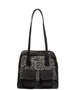 Authentic Canine Styles Small Dog Carrier Black Mesh