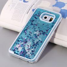 Luxury Glitter Star Liquid Back Phone Case Cover for Samsung S6 S7 Edge S8 Plus