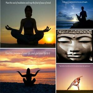 Yoga Meditation Buddha Quotes Inspirational Motivational Print Poster - A4 A3 A2