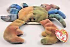 Ty Beanie Baby Babies CLAUDE Crab 4083 PVC 4th Generation ALL-CAPS name tag