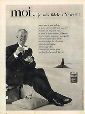 PUBLICITE ADVERTISING 045  1959  NESCAFE  café soluble