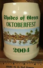 Walt Disney World Resort Shades of Green Oktoberfest 2004 Bitburger Beer Stein
