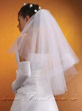 Brautschleier Schleier Hochzeit weiß creme ivory elfenbein kurz lang