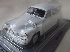 New model - Warszawa 201F - IXO IST 1:43 White - Polish Estate Car Kombi 221