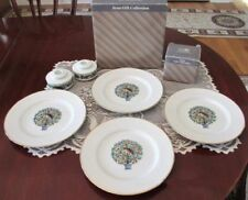 Avon Collection The Twelve Days Of Christmas 4 Dessert Plates 2 Candle Holders