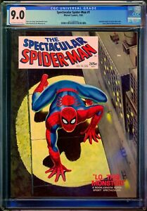 SPECTACULAR SPIDER-MAN #1 - CGC 9.0 OW/WP - VF/NM - ROMITA - STAN LEE - 1968