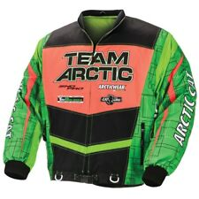 Arctic Cat Men's On-Track Race Jacket No Collar - Green & Orange - 5251-22_