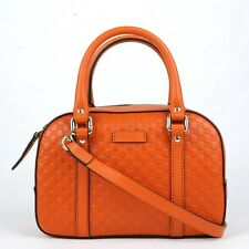 c80ca090d721 Gucci Orange Micro Guccissima Leather Small Crossbody Bag 510289 7527