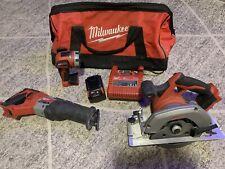 Milwaukee M18 CORDLESS TOOL SET Circular Saw Sawzall + 1 Battery & Flashlight