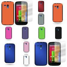 For Motorola Moto G LTE (1st Gen) Case Slim Hard Back + Bumper Phone Cover