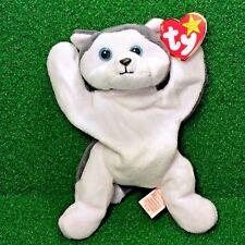 Ty Beanie Baby Nanook The Husky Dog 1996 Retired PVC Plush Toy - FREE Shipping